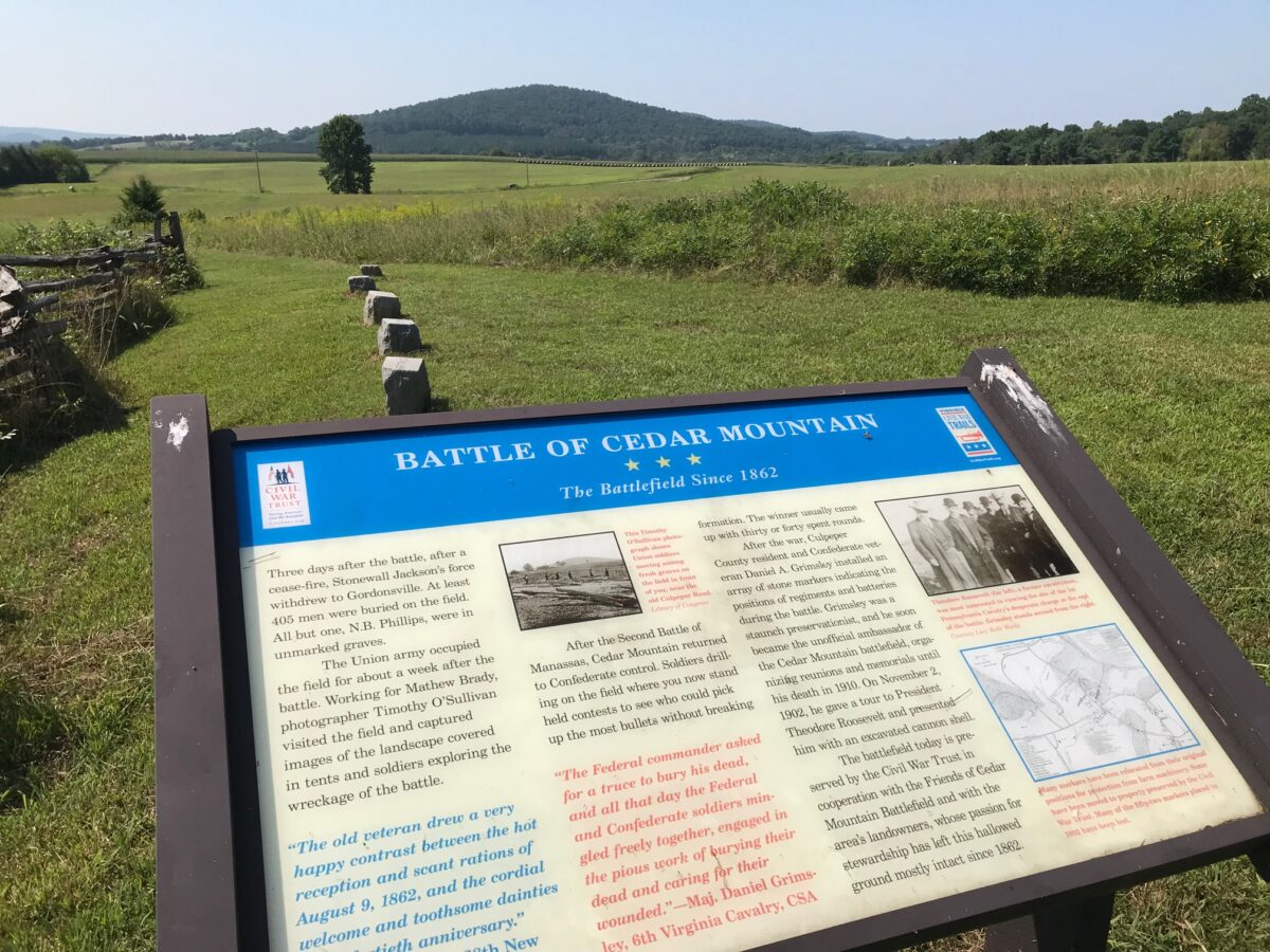 Information for Self-Guided Battlefield Tours