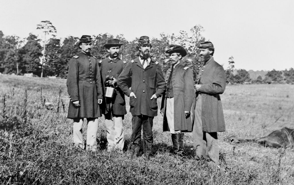 10th Maine Officers, Cedar Mtn. Battlefield. 1862.