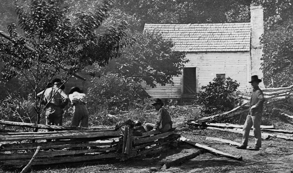 Confederate Field Hospital, Cedar Mtn., Va. Timothy O'Sullivan, 1862