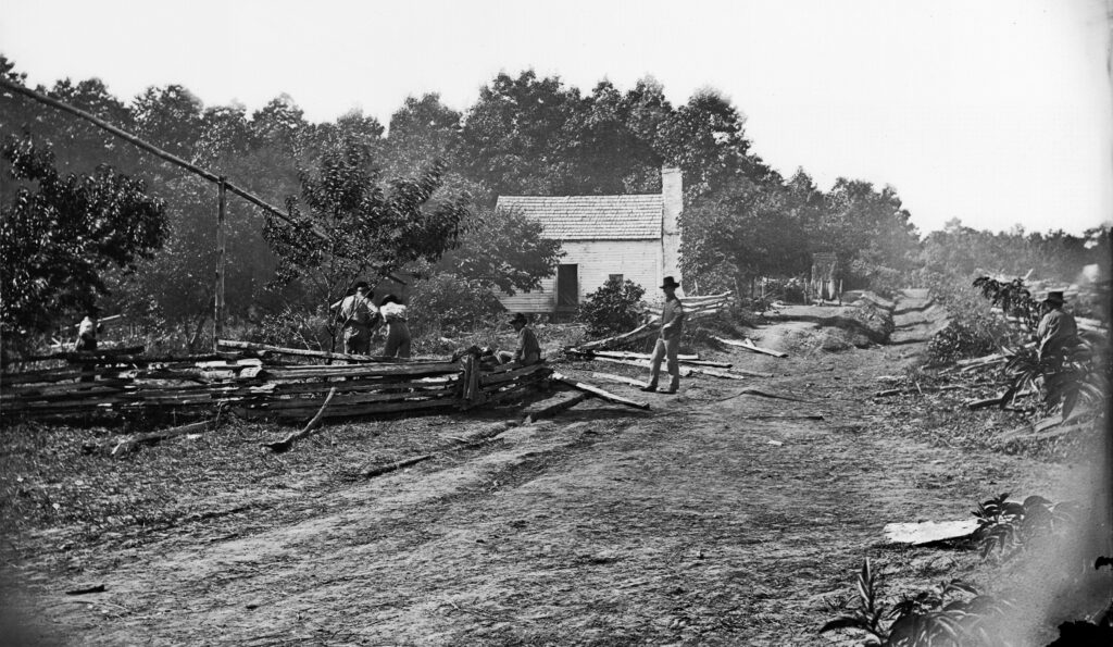 Confederate Field Hospital, Cedar Mtn. Va. Timothy O'Sullivan, 1862