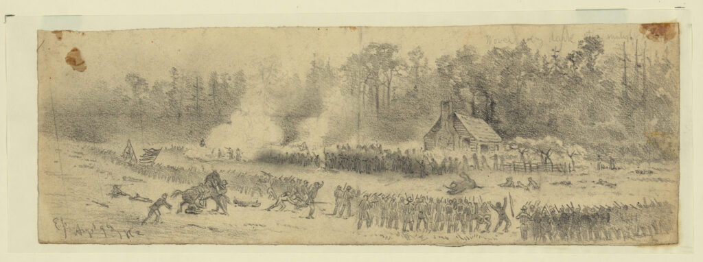 Edwin Forbes Sketch of the Battle
