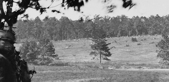 debris field, left, background.