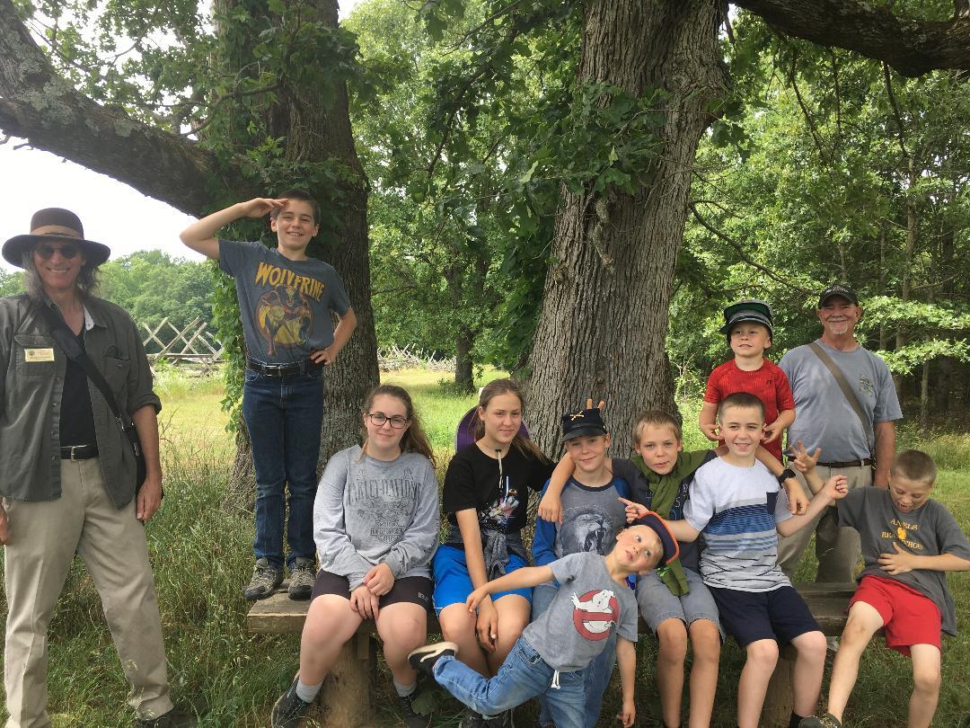 Young visitors enjoy tour of Cedar Mountain
